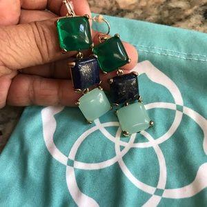 Kendra Scott  Lapis Chalcedony green earrings